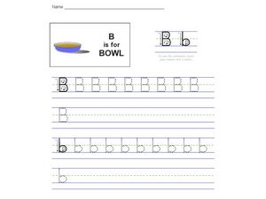 B Is For Bowl Worksheet