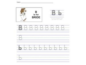 B Is For Bride Worksheet