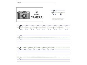 C is for Camera Worksheet