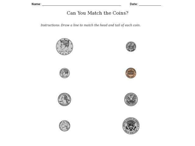 Can You Match the Coins? Worksheet