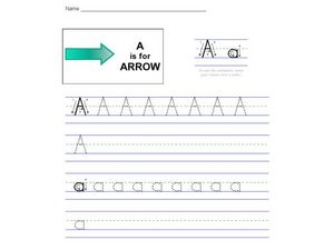 A is for Arrow: Animated Worksheet