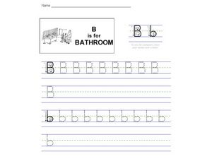 B is for Bathroom Worksheet