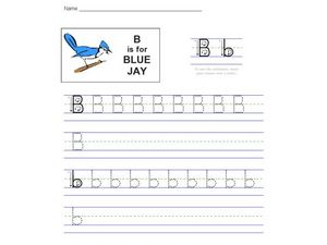 B is for Blue Jay Worksheet