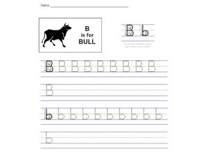 The Letter B: B is for Bull Worksheet