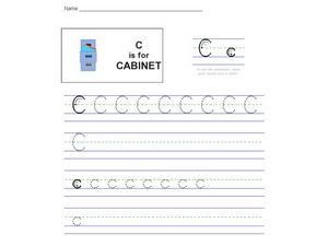 C is for Cabinet Worksheet