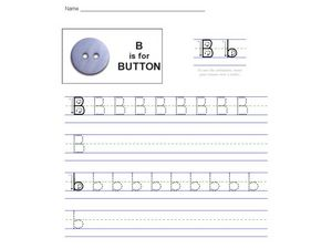 B is for Button Worksheet