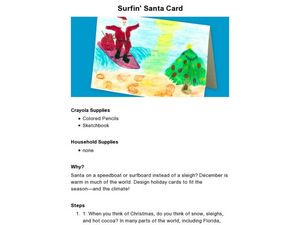 Surfin' Santa Card Lesson Plan