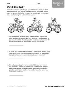 Weird Bike Derby Worksheet