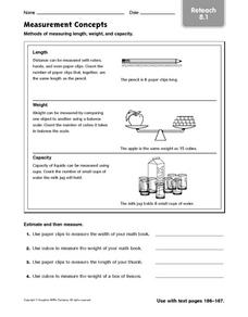 Measurement Concepts - Reteach 8.1 Worksheet