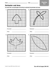 Perimeter and Area - Practice 8.6 Worksheet