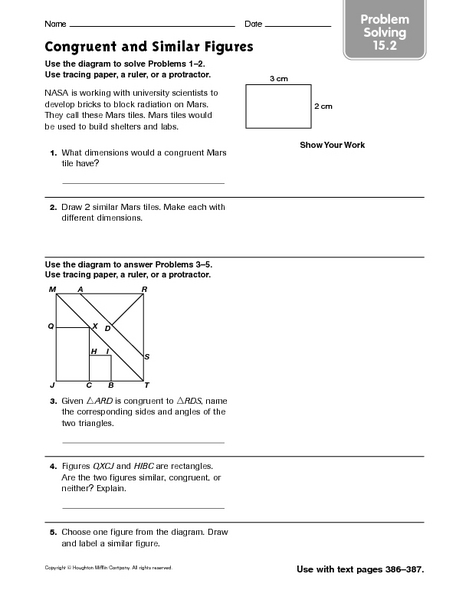 Congruent And Similar Figures Problem Solving 15 2