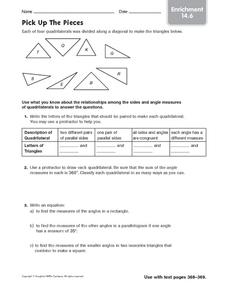 Pick Up the Pieces: Enrichment Worksheet