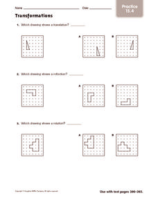 Transformations: Practice Worksheet