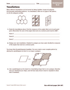 Tessellations: Enrichment Worksheet