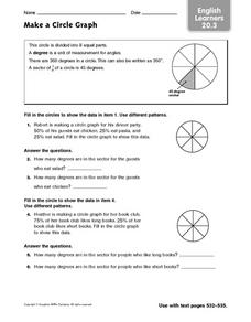 Make a Circle Graph ESL Worksheet
