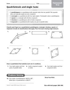 Angle Addition Postulate Lesson Plans & Worksheets