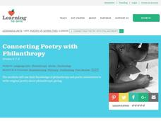 Connecting Poetry with Philanthropy Lesson Plan