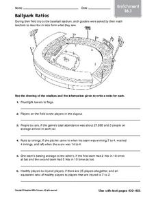 Ballpark Ratios Worksheet