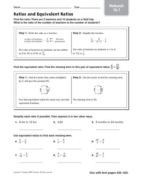 Printables. Equivalent Ratios Worksheet. Messygracebook Thousands ...