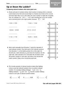Up or Down the Ladder? - Enrichment 22.2 Worksheet