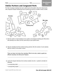 Similar Partners and Congruent Ports: Enrichment Worksheet