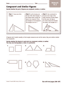 Quiz & Worksheet - Properties of Congruent and Similar Shapes ...