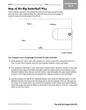 Map of the Big Basketball Play Worksheet