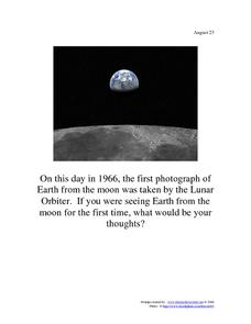 The Moon: August 23, 1966 Worksheet