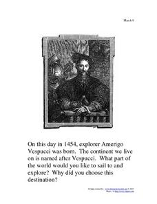 Amerigo Vespucci: March 9, 1945 Writing Prompt