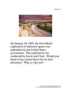 Lewis and Clark: January 18, 1803 Worksheet