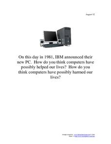 IBM: August 12, 1981 Worksheet
