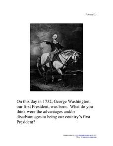 George Washington: February 22, 1732 Worksheet