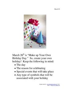 Make Up Your Own Holiday Day: March 26 Writing Prompt