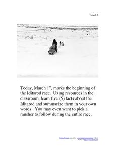 Iditarod: March 7th Worksheet