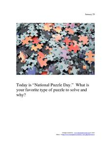 National Puzzle Day: January 29 Worksheet