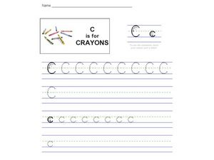 Handwriting Practice: The Letter C Worksheet