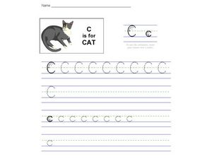 C is for Cat: The Letter C Worksheet