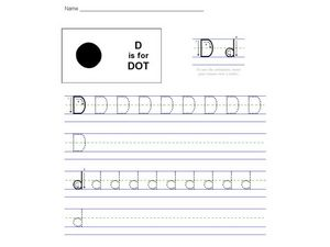 D is for Dot: The Letter D Worksheet