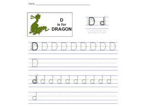 D is for Dragon: The Letter D Worksheet