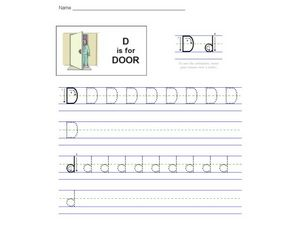 D is For Door: The Letter D Worksheet