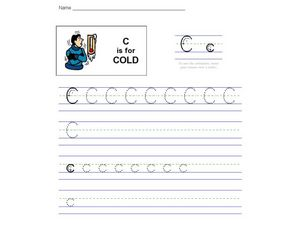 C is for Cold: The Letter C Worksheet