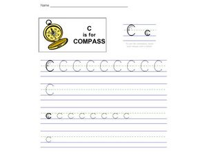 C is for Compass: The Letter C Worksheet