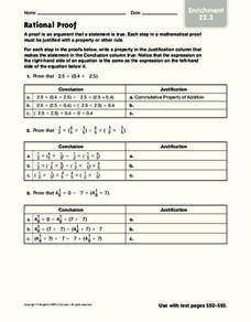 Rational Proof Worksheet