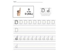 D is for D: The Letter D [ASL] Interactive