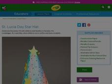 St. Lucia Day Star Hat Lesson Plan