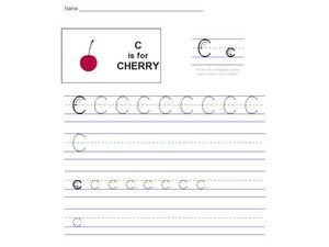 C Is For Cherry Worksheet