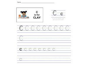 C Is For Clay Worksheet
