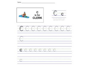 C Is For Clerk Worksheet