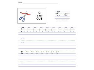 C Is For Cut Worksheet