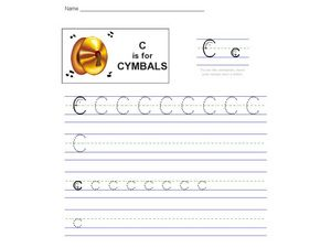 C Is For Cymbals Worksheet